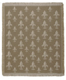 Mid - Royal Fleur De Lis/Khaki Throw