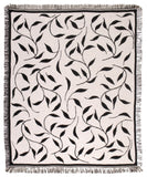 Mid - Leafy Vine/Black Throw