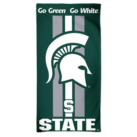 WinCraft NCAA Michigan State Spartans Beach Towel, Team Color, One Size
