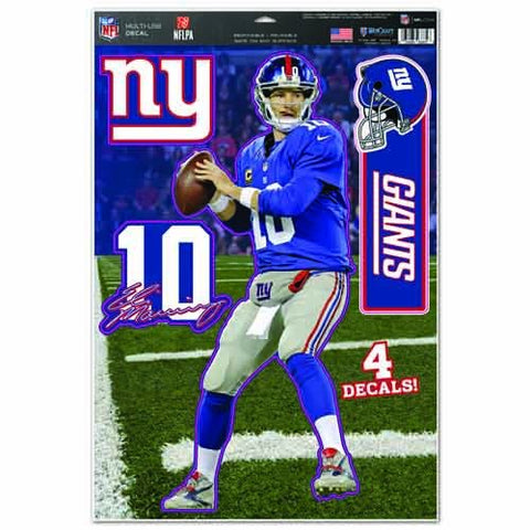 WinCraft NFL New York Giants WCR75416014 Multi-Use Decal, 11