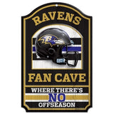 "WinCraft NFL Baltimore Ravens 05284010 Wood Sign, 11"" x 17"", Black"