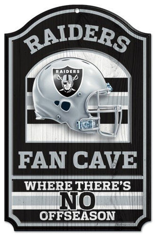 WinCraft NFL Oakland Raiders 05950010 Wood Sign, 11