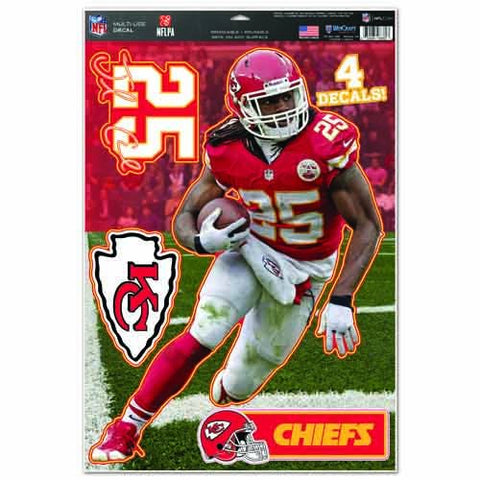 NFL Kansas City Chiefs WCR78787014 Multi-Use Decal, 11