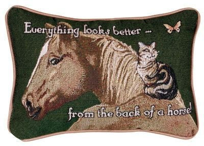 Simply Everything Looks Better from The Back of A Horse! Pillow