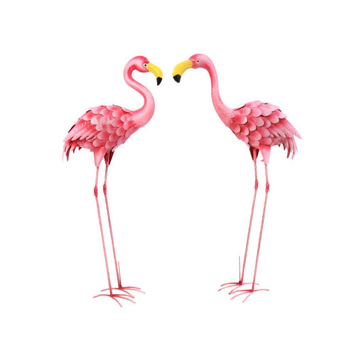 GIL 2472840 S/2 36InH Flamingo Figurines Spring, 16.54InL x 7.87InW x 36.22InH, Pink