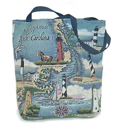 Simply Lighthouses of North Carolina Tote Bag