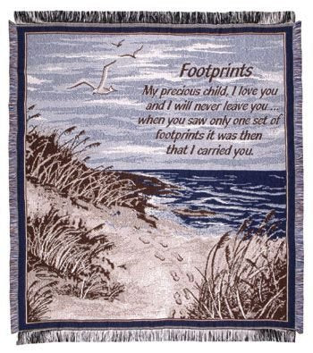 Simply Footprints in The Sand Mid-Size 2 1/2 Layer Throw
