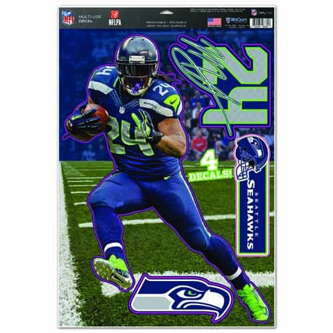 WinCraft NFL Seattle Seahawks WCR37822014 Multi-Use Decal, 11