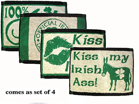 4 Assorted Irish Bar Towels (16