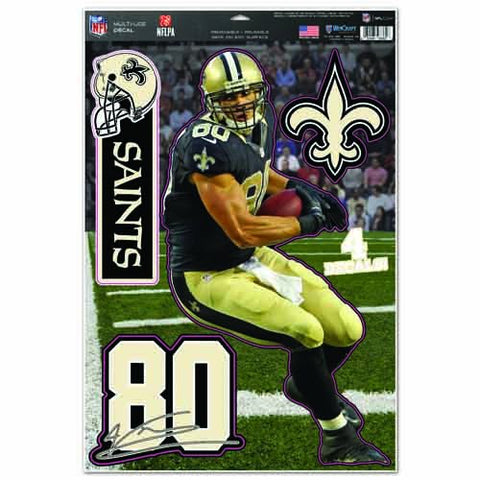 WinCraft NFL New Orleans Saints Jimmy Graham Multi-Use Decal Sheet, 11