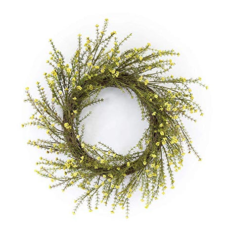 Melrose 78236 Mini Floral Wreath, 18-inch Diameter