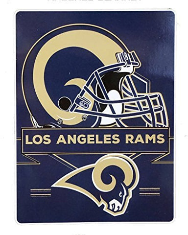 Northwest 0807 Los Angeles Rams NFL Royal Plush Raschel (Prestige Series)