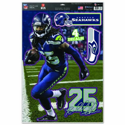 WinCraft NFL Seattle Seahawks Richard Sherman Multi-Use Decal Sheet, 11