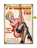 Firehouse Pub Wood 23x31