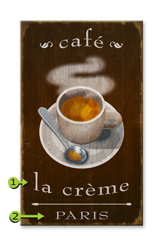 French Cafe Coffee Wood 28x48