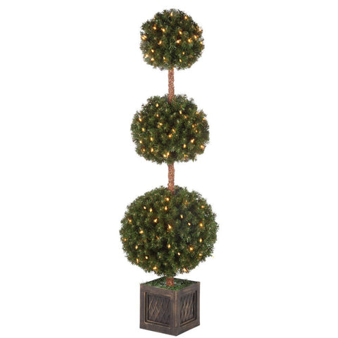 Gerson 5' Potted Triple Ball Tree