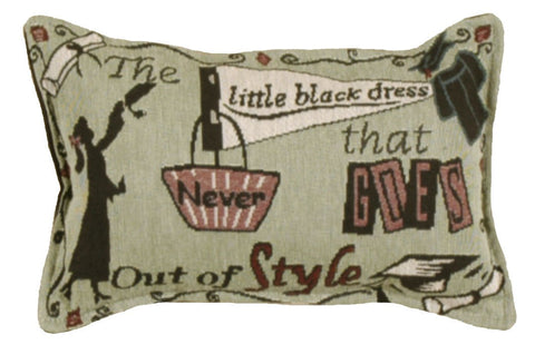 Little Black Dress 9 X 12 Tapestry Pillow