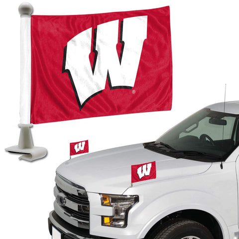 ProMark NCAA Wisconsin Badgers Flag Set 2-Piece Ambassador Style, Team Color, One Size