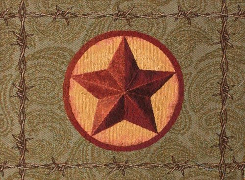 Manual Western Star Collection Tapestry Placemat with Backing, 18 X 12.5-Inch