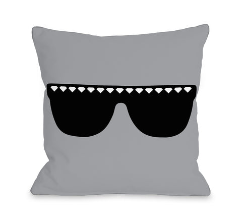 One Bella Casa Diamond Sunglasses Throw Pillow by OBC 18 X 18