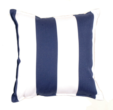 Cabana Stripe Navy Outdoor Pillow