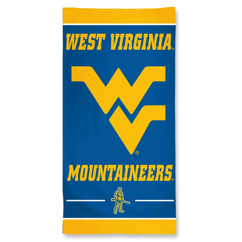 NCAA West Virginia Mountaineers 30 by 60 Fiber Reactive Beach Towel