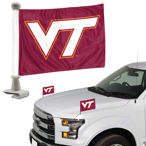 ProMark NCAA Virginia Tech Hokies Flag Set 2-Piece Ambassador Style, Team Color, One Size