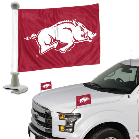 ProMark NCAA Arkansas Razorbacks Flag Set 2-Piece Ambassador Style, Team Color, One Size