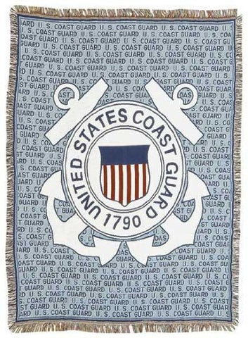 Coast Guard Full Size Tapestry Throw