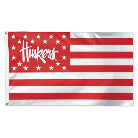 WinCraft NCAA University of Nebraska 09039115 Deluxe Flag, 3' x 5'