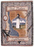 Simply Point Montara, Ca Lighthouse Tapestry Throw