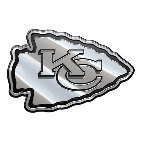 NFL Kansas City Chiefs Metal Emblem, One Size, One Color