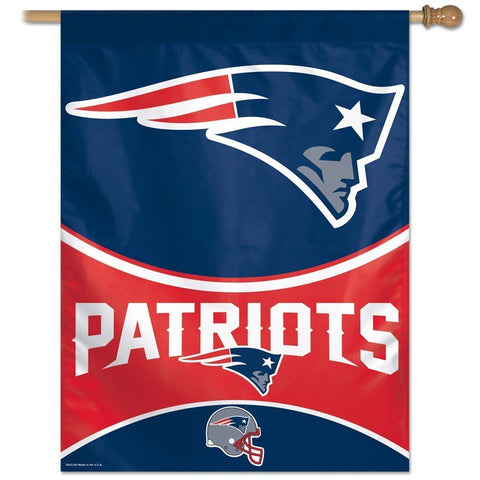 Wincraft, New England Patriots Vertical Flag, 28 Inches x 40 Inches, Team Colors