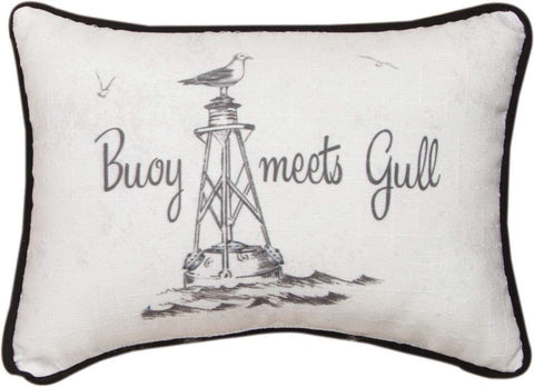 Buoy Meets Gull Word Pillow