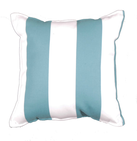 Cabana Stripe Baltic Outdoor Pillow