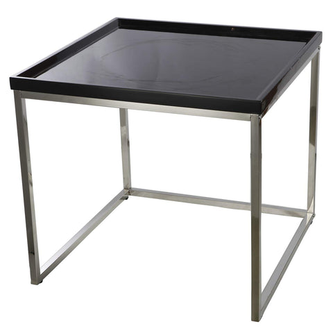 ArtFuzz 23.5x23.5x22 Av Side Table Black