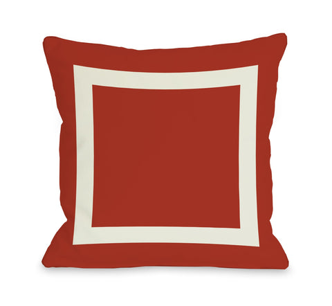 Square Pillow, Red
