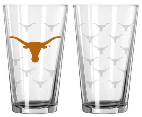 Boelter Brands Texas Longhorns Satin Etch Pint Glass Set