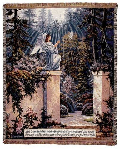 Simply Garden Angel Mid-Size Tapestry Throw