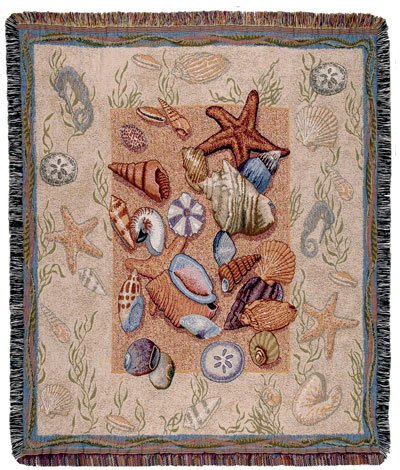 ArtFuzz Seashell Collection Throw