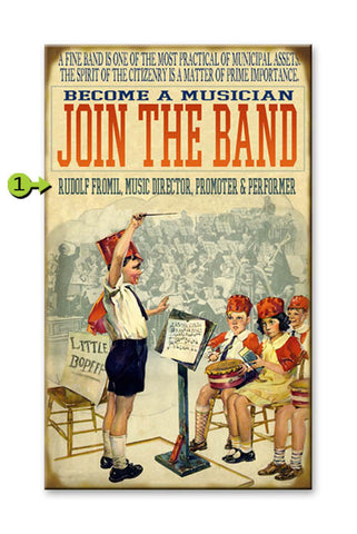 Join the Band Metal 23x39