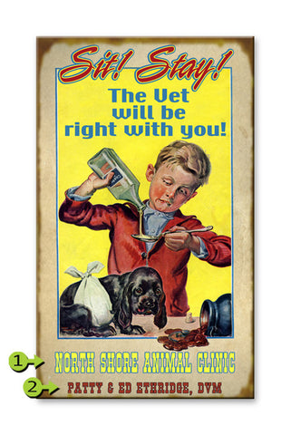 Pet Vet (Sit, Stay) Metal 23x39