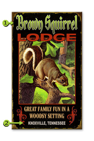 Brown Squirrel Lodge Wood 28x48