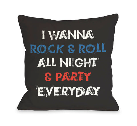Party Every Day Throw Pillow by OBC 18 X 18