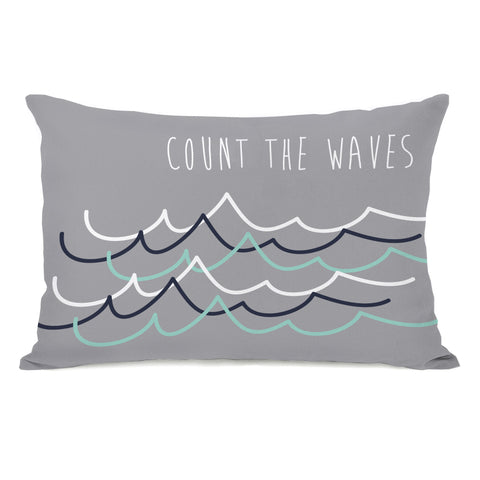 Count The Waves Lumbar Pillow by OBC 14 X 20