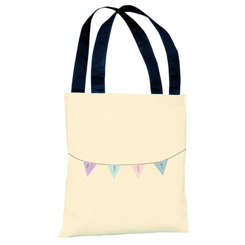 #1 Mom Banner - Yellow Tote Bag by