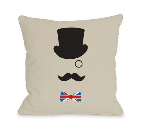 A British Gentleman Throw Pillow by OBC 18 X 18