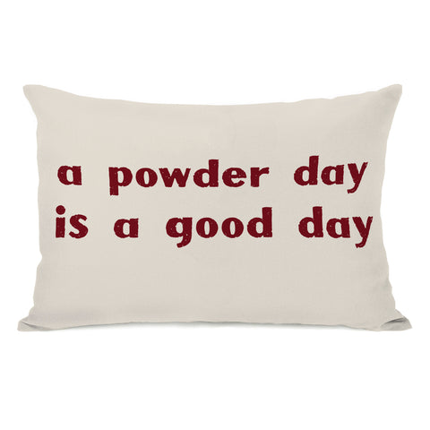 A Powder Day Lumbar Pillow by OBC 14 X 20
