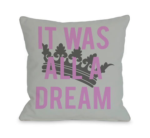 All A Dream Version 2 Throw Pillow by OBC 18 X 18