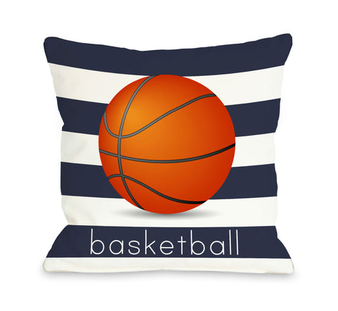 Basketball Throw Pillow by OBC 18 X 18